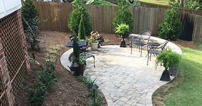 landscape and hardscape design patio