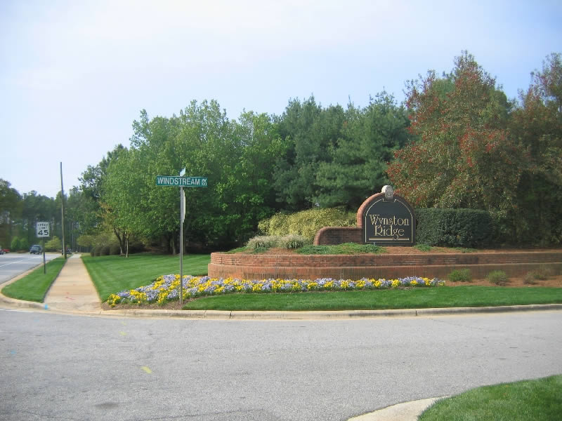 Wynston Ridge landscaping project